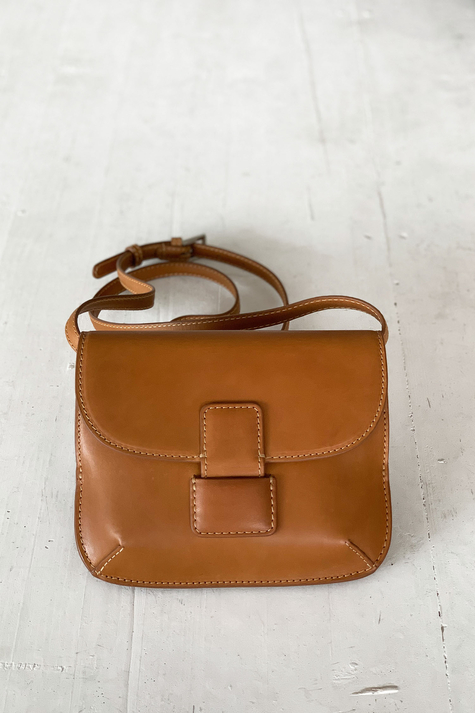 Trotter Small Cross Bag, Tobacco