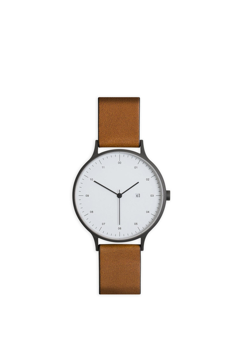 Everyday Watch, Gunmetal, Tan Leather