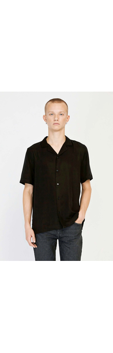Kirby Strap Shirt, Washed Black