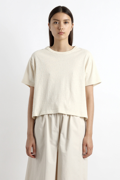 Signature Textured Tee, Off White