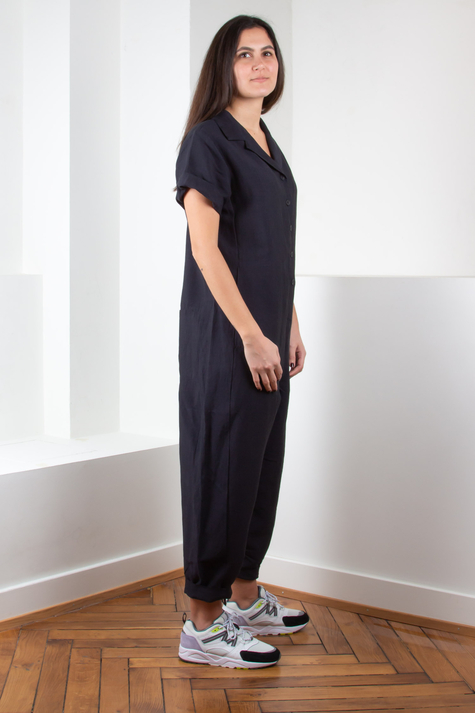 Astrid Jumpsuit, Blue Black