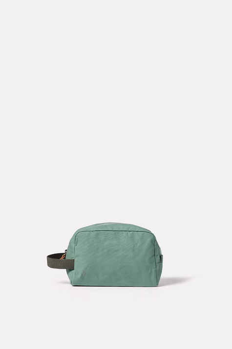 Simon Waxy Wash Bag, Green